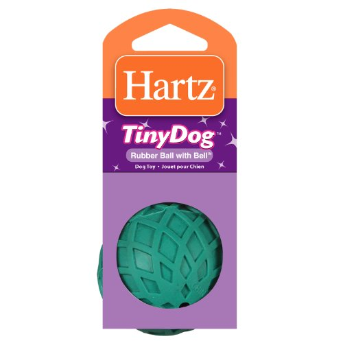 Hartz Rubber Ball With Bell For Tiny Dogs Assorted Colors